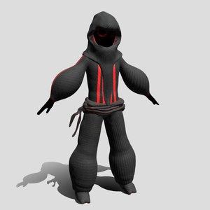 3D ninja kid