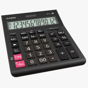 casio gr-12 calculator 3D model