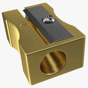 3D gold pencil sharpener