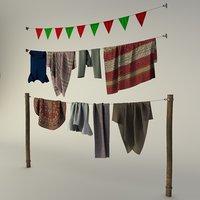 rags on a hanger