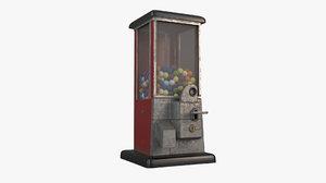 3D gumball machine model