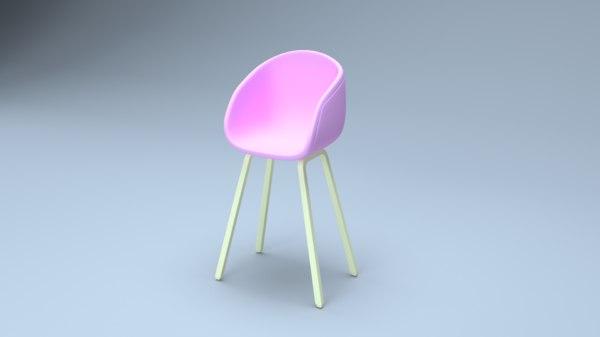 3D chair interior modern