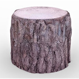 3D tree stump 2 model