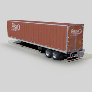 3D model dry van trailer 48ft