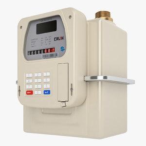 gas prepayment meter 3D