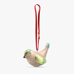 ornament pearl bird rope 3D model