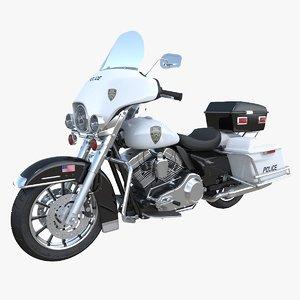 3D h-d electra-glide police model