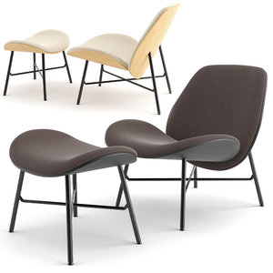 chair lx690 leolux lx 3D model