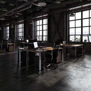 3D office loft