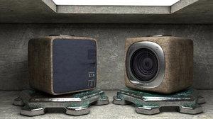 3D cubic action cam camera