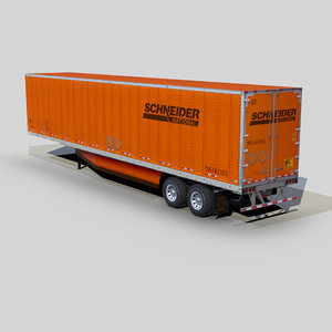 3D dry van trailer 48ft model