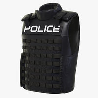 3D model tactical gear vest