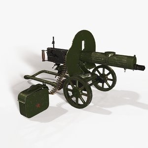 3D ready machine gun maxim
