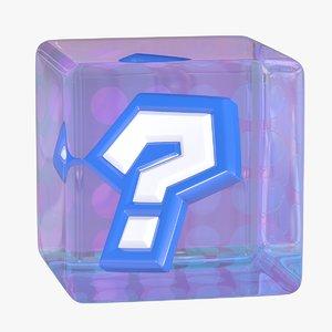 3D model mario kart item box