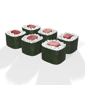 sushi roll japanese food 3D