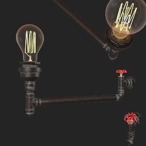 loftit red faucet loft1482w-6 3D model
