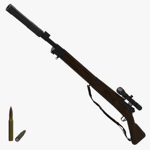 rifle games blender 3D model