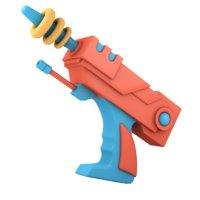 cartoon laser gun 3D model
