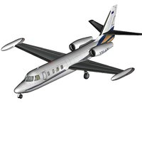 israel westwind business jet 3D model