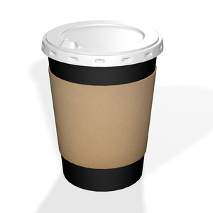 coffee drink cup plastic 3D model