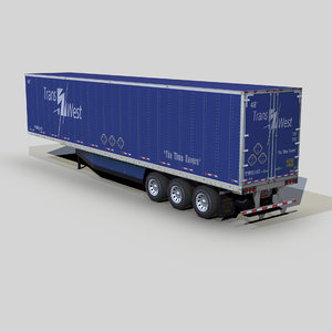 3D dry van trailer 48ft