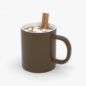 3D hot chocolate model