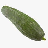 3D cucumber 04 hi polys model