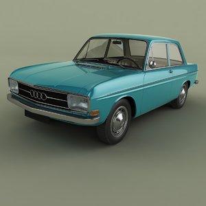3D 1965 audi f103 coupe