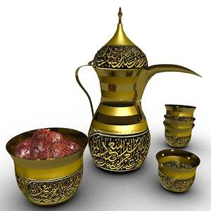 arabic coffee dalla 3D model
