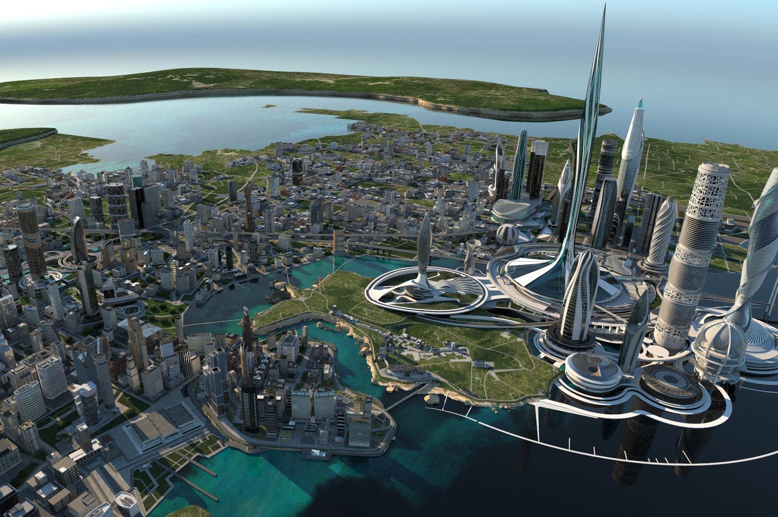 scene city 3 3D model