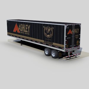 dry van trailer 48ft 3D model