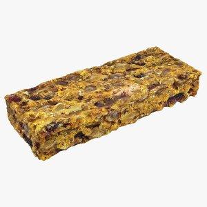 granola bar 3D