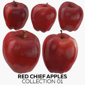 3D model red chief apples 01