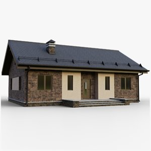 gameready house 1 type 3D model