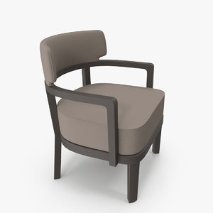 zoe small armchair 3D