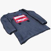 3D childrens sweater jumper model