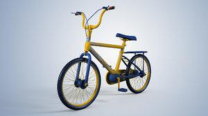 cartoon bicycle 3D