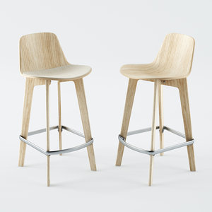 3D lottus wood chair model