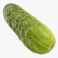 3D cucumber 05 hi polys