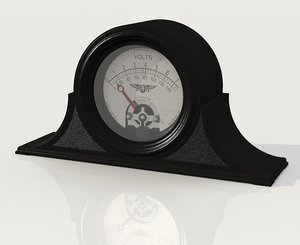 3D vintage voltmeter jewell instrument