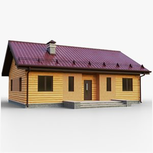 3D gameready house 1 type