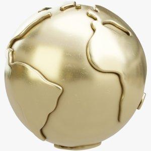 gold maps 3D model