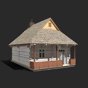 3D model old barber building