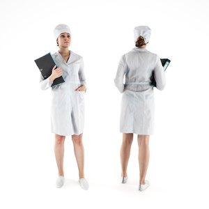 3D model human nurse