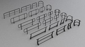 3D modular railings