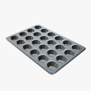 muffin pan 3D