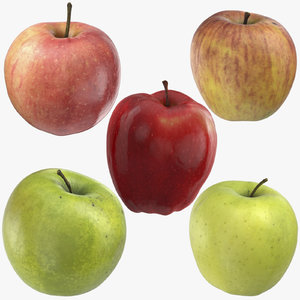 3D 5 apples - ambrosia model