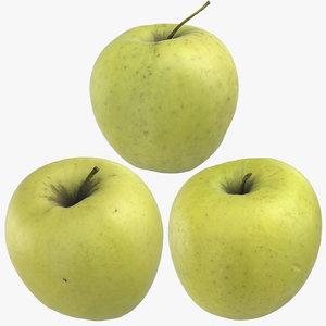 golden delicious apples 02 3D