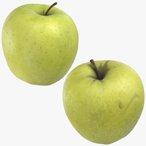 golden delicious apples 03 3D
