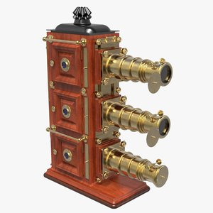 3D triunial magic lantern